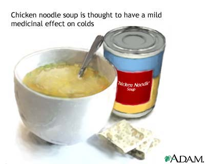 Chicken soup and sickness