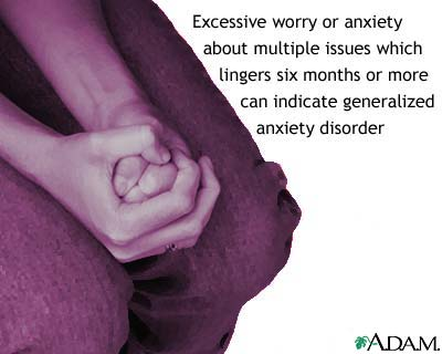 Generalized anxiety disorder: MedlinePlus Medical Encyclopedia Image
