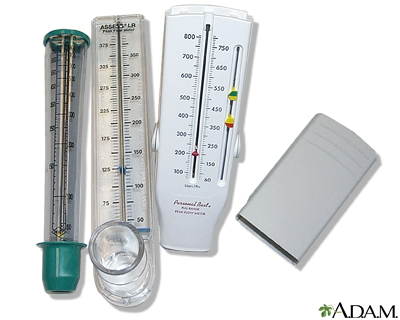 Peak flow meter use - series: MedlinePlus Medical Encyclopedia