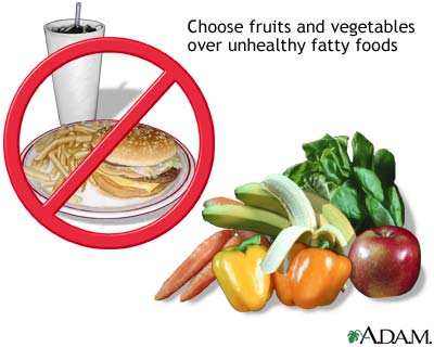 For a healthy diet, replace unhealthy and fattening foods with ...