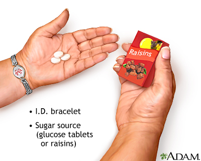 Diabetic emergency supplies