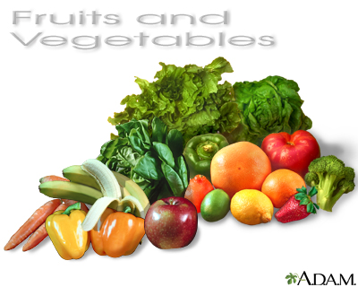 Fruits and vegetables: MedlinePlus Medical Encyclopedia Image