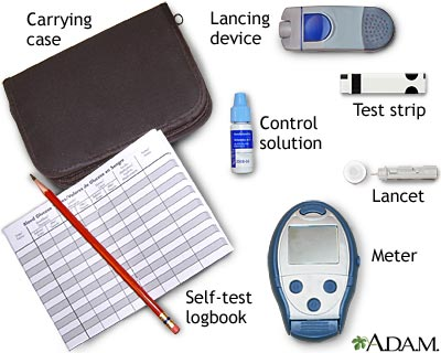 Monitoring blood glucose: Using a self-test meter
