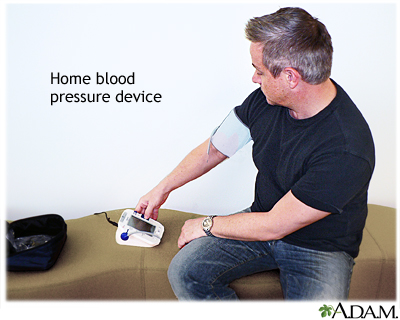 Taking your blood pressure at home