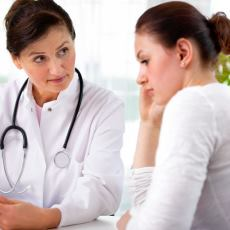 Photograph of a doctor talking to a patient
