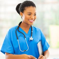 Photograph of a female nurse