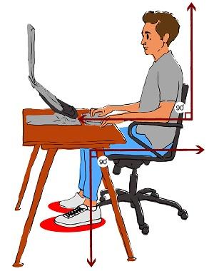 Gu a para una buena postura medlineplus en espa ol for Sillas para una buena postura