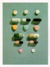 Photograph of methanphetamine and amphetamine pills