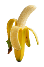 A photograph of a banana