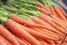 Una fotografía de zanahorias