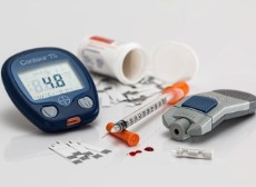 A photo of diabetic supplies
