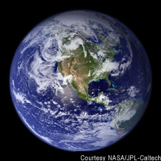 Photograph of the earth