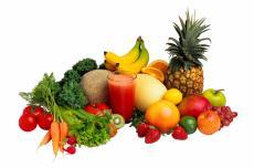 Fotografía de varias frutas y verduras