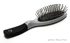 Fotografía de un cepillo para el cabello