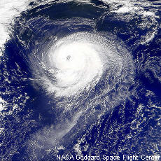 Photograph of a hurricane
