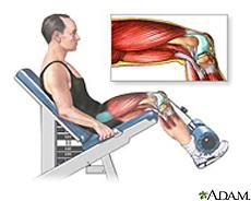 Ilustración de un hombre haciendo ejercicio para los músculos de la pierna