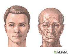 Ilustración de un hombre joven y un hombre mayor