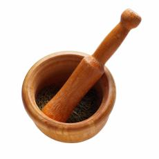 Photograph of a mortar and pestle
