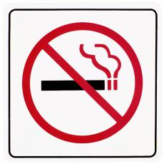 Illustration of a no-smoking sign