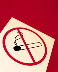 Photograph of a 'no smoking' sign