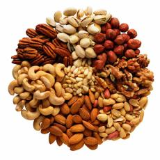 Photograph of mixed nuts
