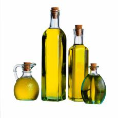 Photograph of bottles of olive oil