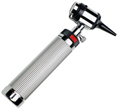 A photograph of an otoscope.
