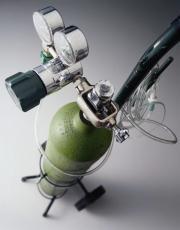 Fotografía de una botella de oxígeno