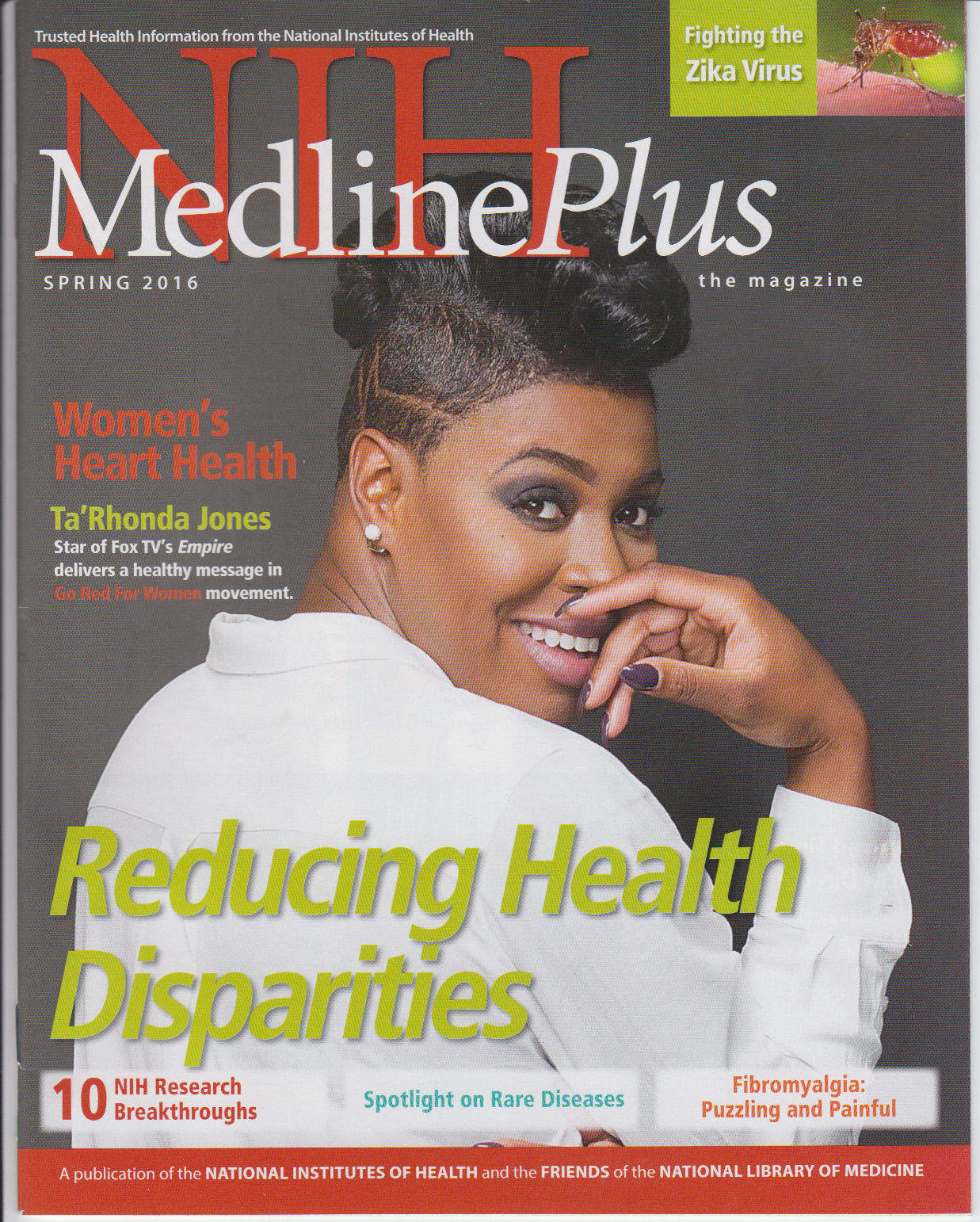 Cover of NIH MedlinePlus the Magazine Spring 2016 Issue