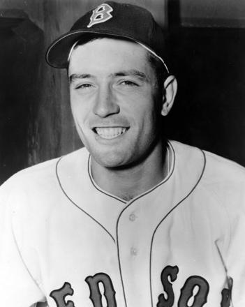 Jimmy Piersall wearing his Boston Red Sox baseball uniform