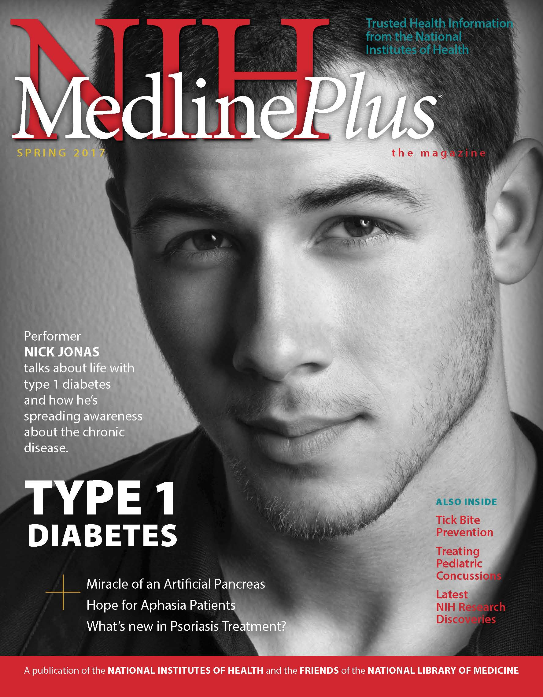 Cover of NIH MedlinePlus the Magazine Spring 2017 Issue