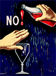 illustration of no drinking allowed when driving