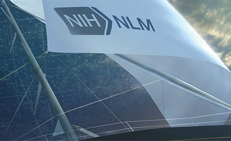 Sailboat with the NIH/NLM logo