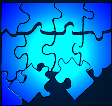 Illustration of a puzzle with pieces breaking off