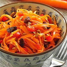 Ensalada asiática de zanahorias