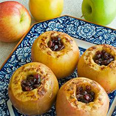 Baked Apple and Cranberries