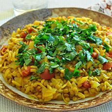 Indian Lentils and Pasta