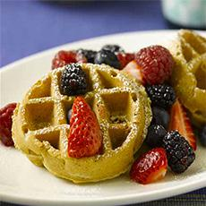 Oatmeal Pecan Waffles (or Pancakes)