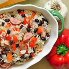 Rice with Black Beans and Sausage
