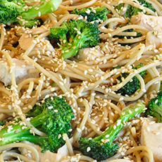 Sesame Noodles with Broccoli and Chicken