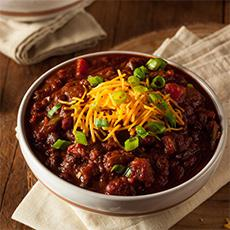 Three-Bean Chili With Chunky Tomatoes