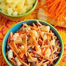 Ensalada tropical de zanahorias
