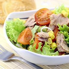 Tuna and Avocado Cobb Salad