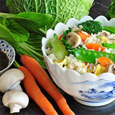 Veggie and Egg Rice