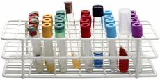 Photograph of test tubes in a tray