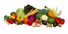 Fotografía de una variedad de verduras