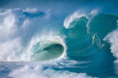 Fotografía de olas en el oceáno