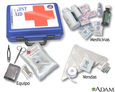 Botiquin primeros auxilios cruz roja mexicana