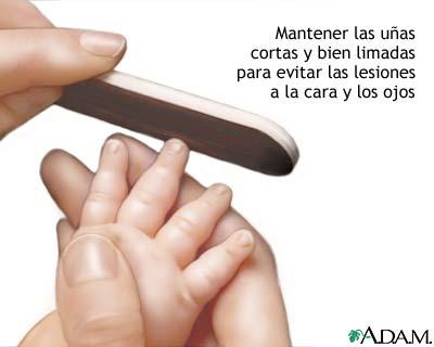 Cuidado de las uñas en recién nacidos