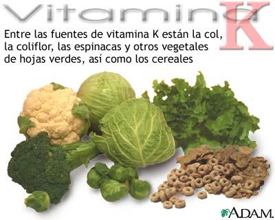 Fuentes de vitamina K